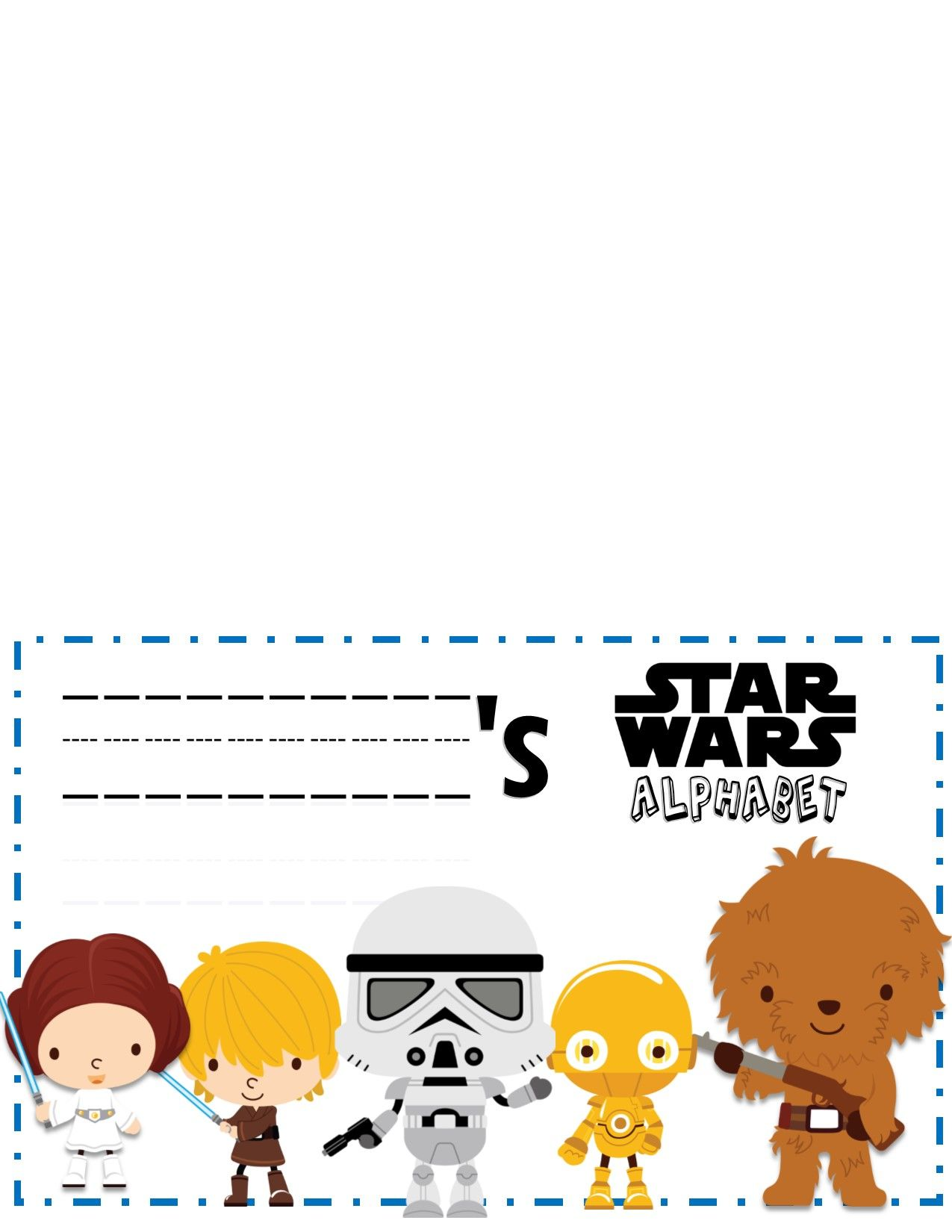Star Wars Alphabet Trace Book