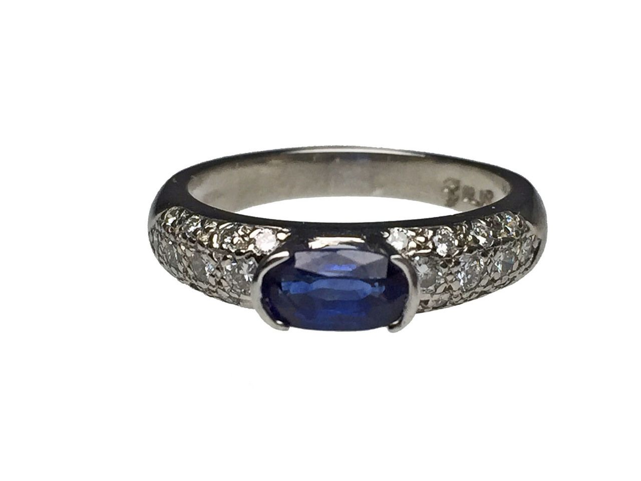 8f6fbb891 Lippa's Estate and Fine Jewelry - Platinum Oval Sapphire and Diamond Ring,  $1,150.00 (http