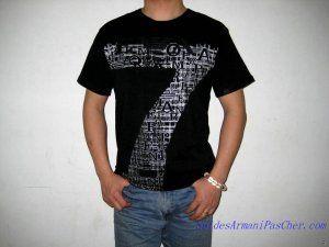 T-shirt à Manches Courtes Armani EA7 Homme Coton Noir   T-Shirt ... 4950715ec50