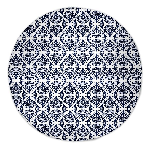 UncommonWares Navy Fancy Round Beach Towels