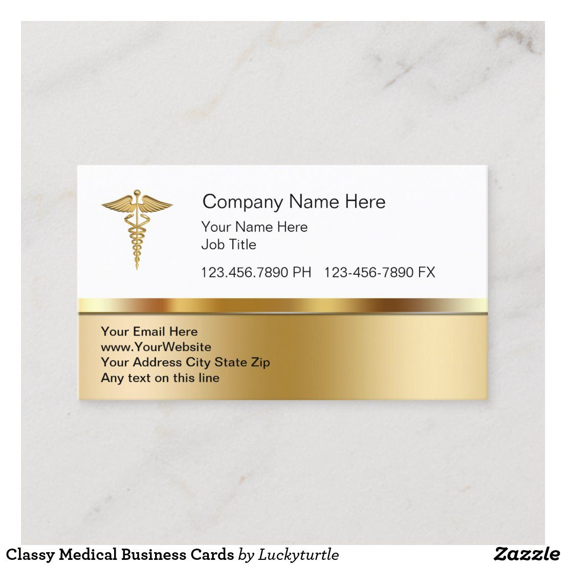 Classy medical business cards in 2020