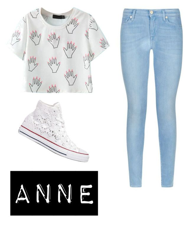 """""""Untitled #158"""" by ka-vip on Polyvore featuring 7 For All Mankind and Converse"""