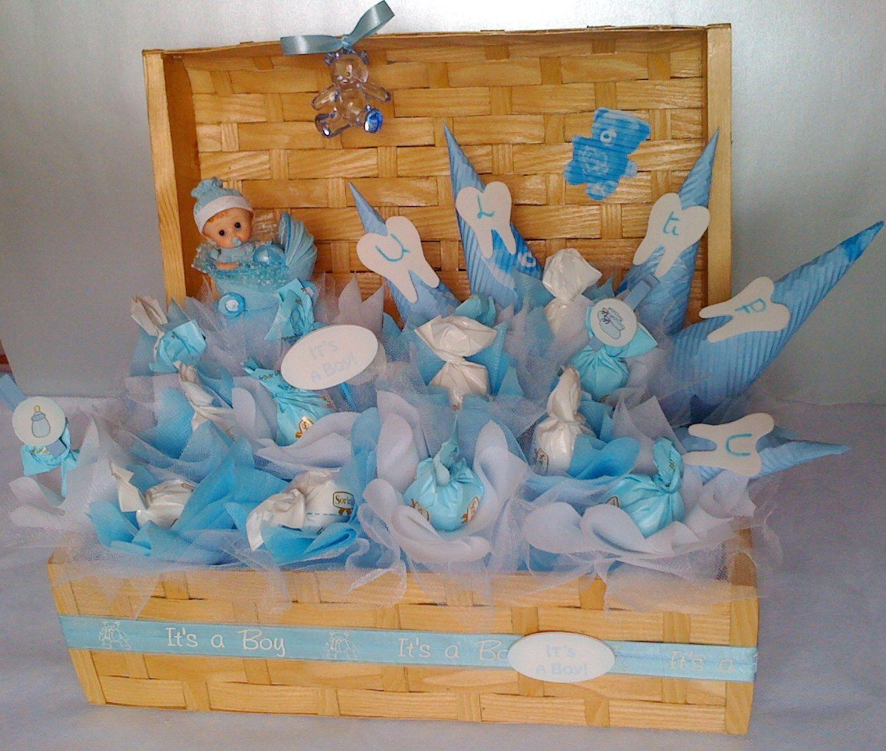 Chocolate bouquet on pinterest candy flowers bouquet of chocolate - Baby Boy Chocolate Bouquet