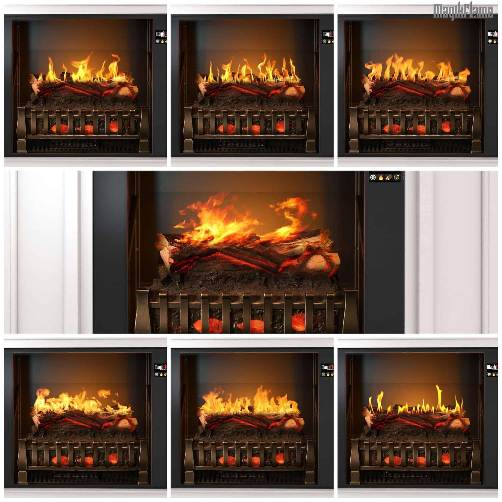 Artemis Modern White Electric Fireplace Mantel & Insert