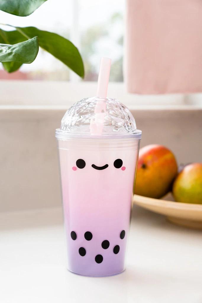 Taro Boba Tea Reusable Tumbler In 2020 Boba Tea Taro Boba Bubble Tea