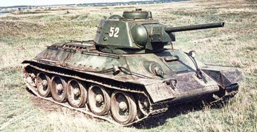 цветное фото: Советский средний танк Т-34-76 ...