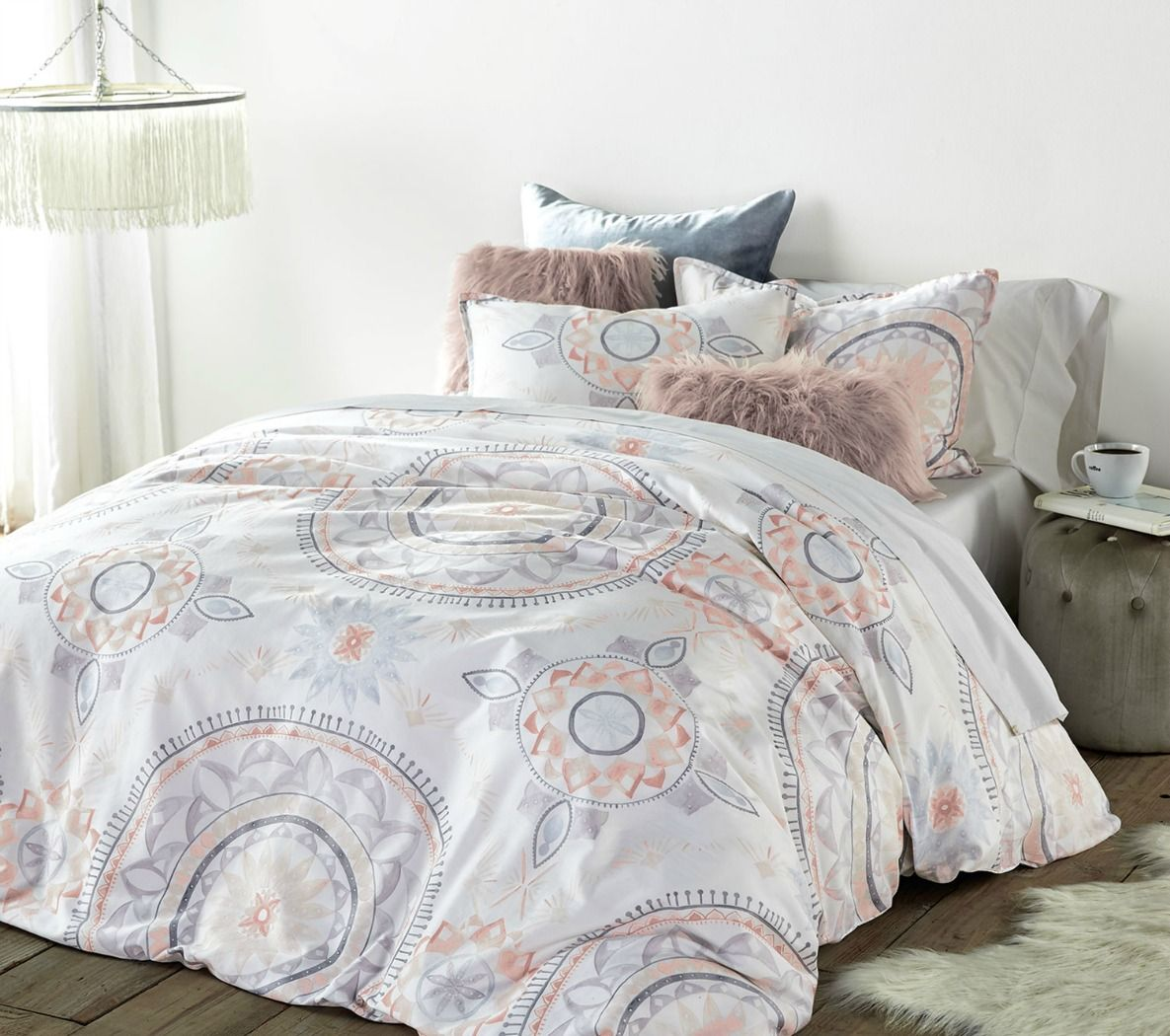 bow it cover plum medallion love pin duvet agh outfitters urban