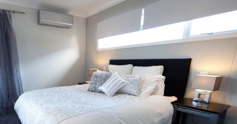 Mitsubishi Designer Series Gray Wall Mount Indoor Heating And