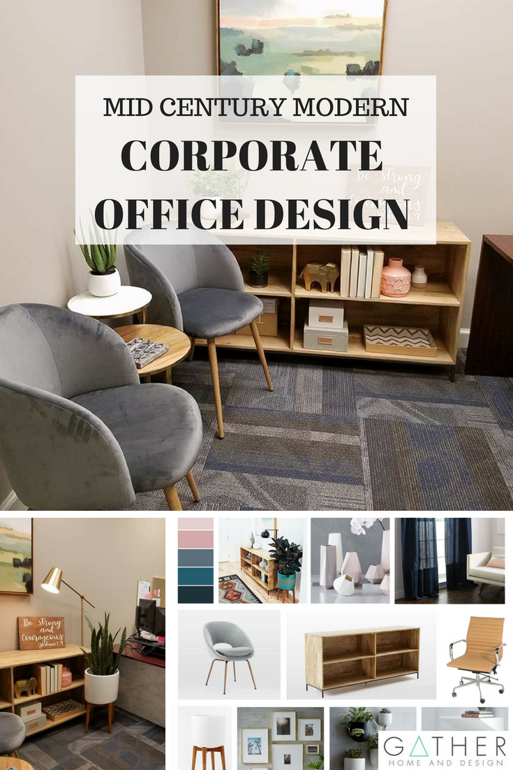Check Out This Corporate Office Design That Took A Bland E To Mid Century