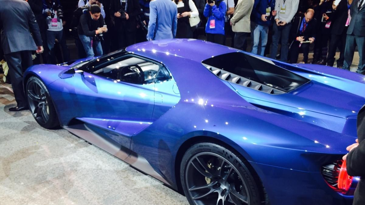 Gallery Ford Gt Supercar Unveiled At Detroit Auto Show Photo