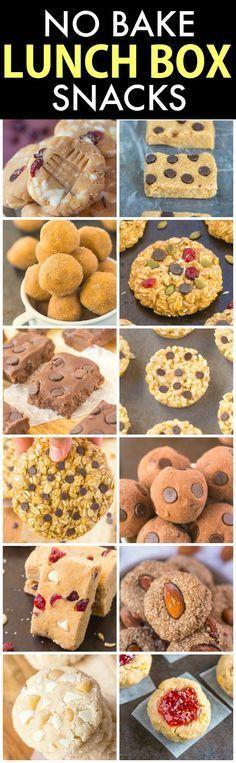 Healthy No Bake LUNCH BOX SNACSK! Delicious, quick, easy and portable snacks …