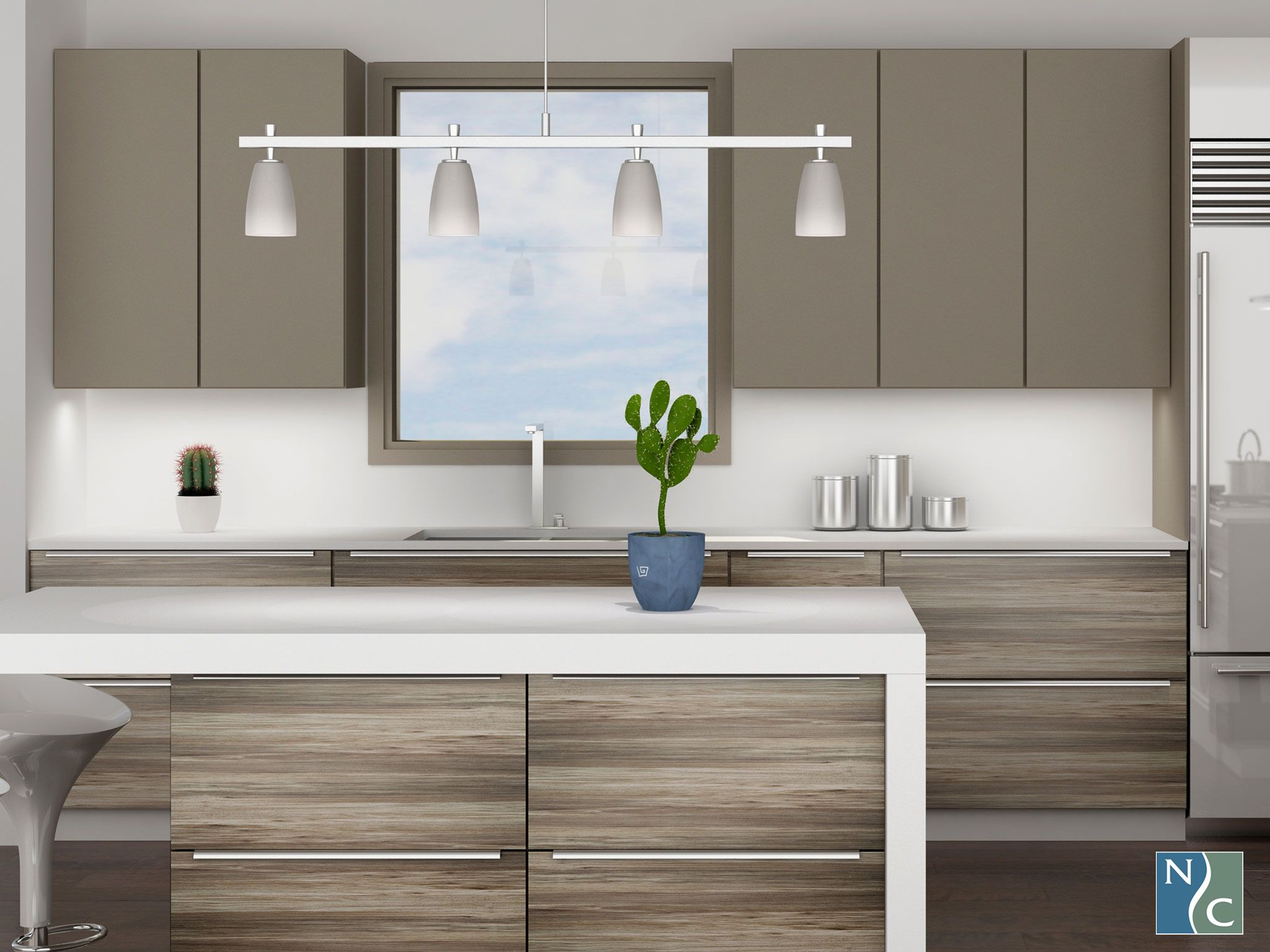 Another Angle Of Grand Canyon Textured Tfl And Umber Supermatte 3d Laminate Contemporary Modern Kitchen Kitchen Styling Modern Contemporary Kitchen