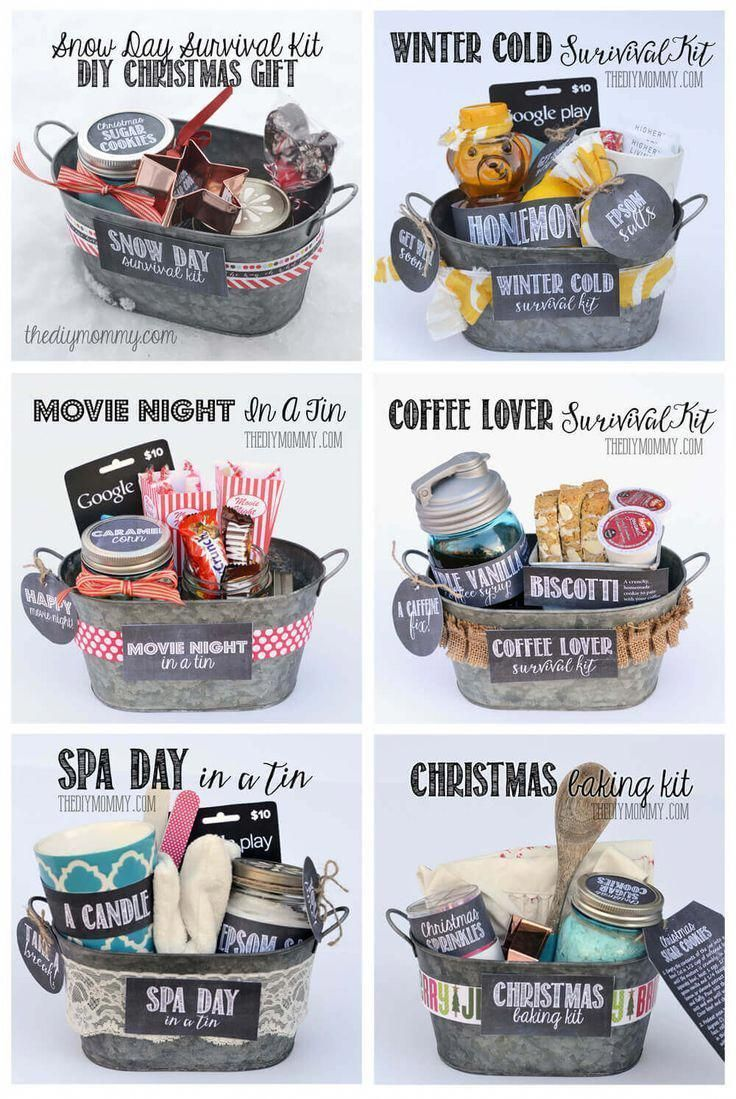 100+ DIY Christmas Gift Baskets That Are Stuffed To The Brim With Adorable Christmas Gifts - Hike n