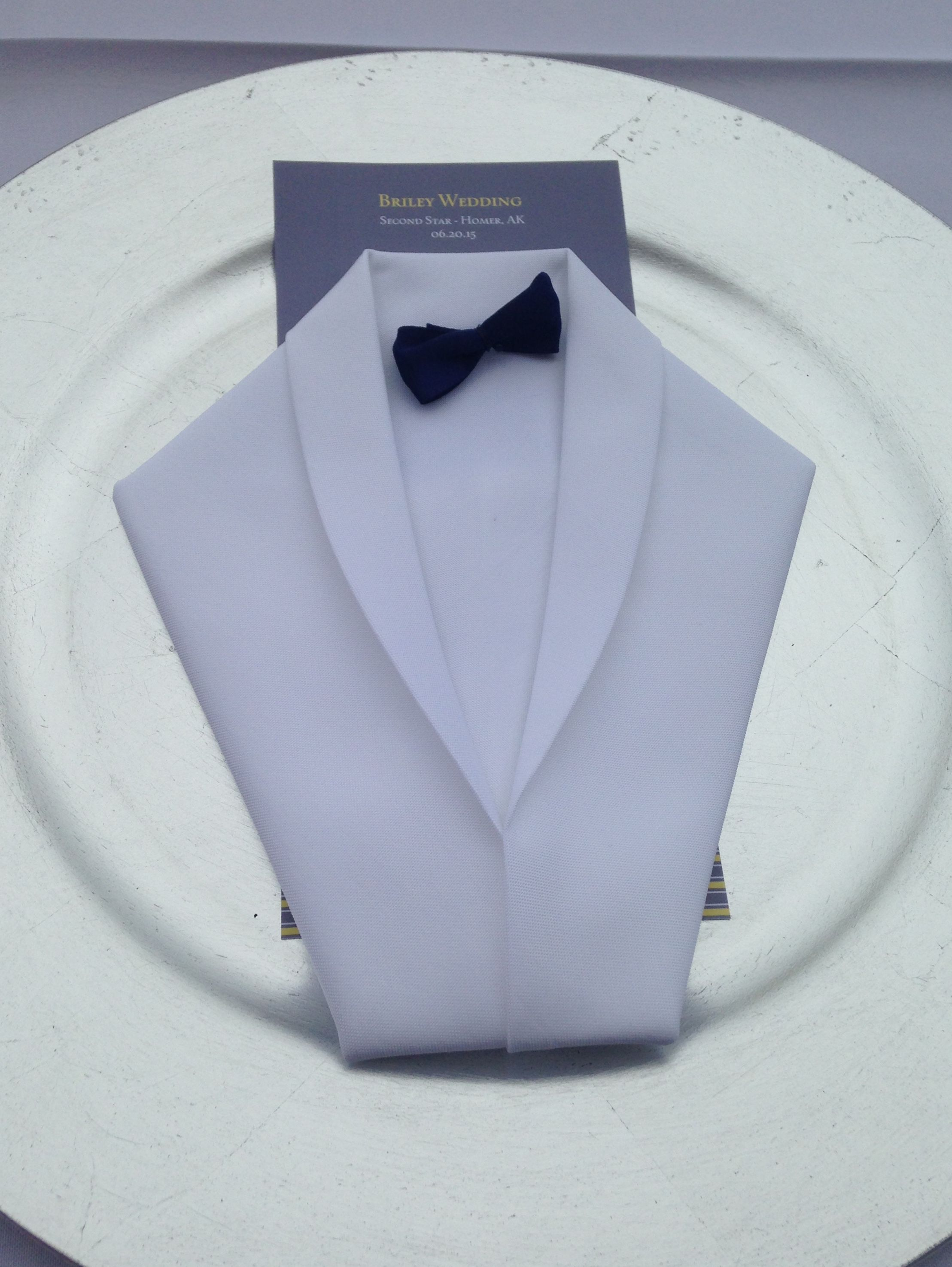 Pliage De Serviette Smoking Tuxedo Napkin Fold Is Perfect For That Smart And Fancy Look