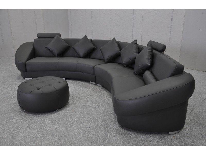 énorme réduction 9ff0c 84c7f magnifique canapé demi lune cuir | Décoration française ...