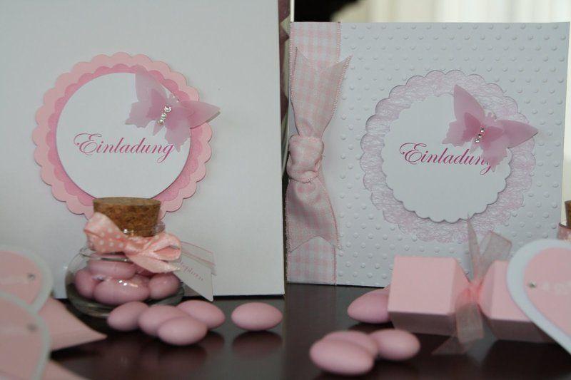 Einladungskarte Taufe Schmetterling