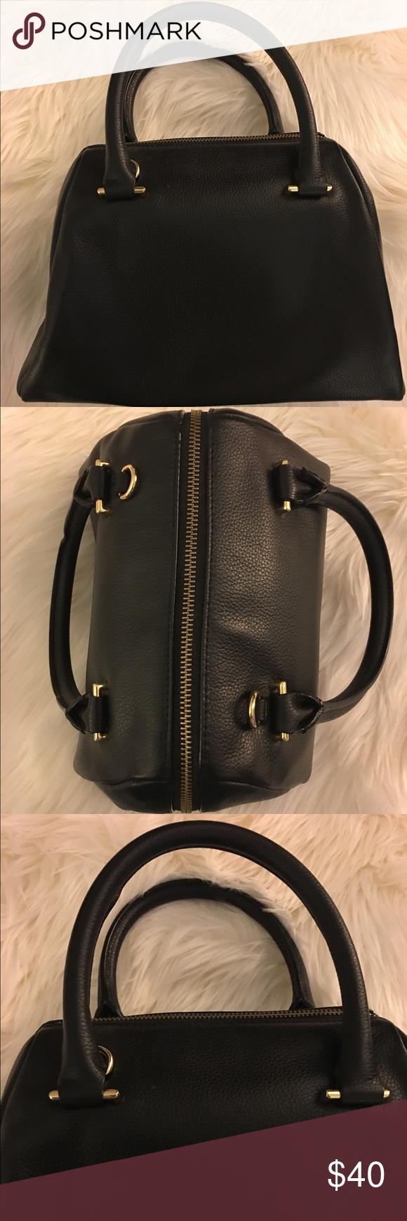 Banana Republic Black Leather Olivia Handbag Banana
