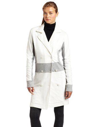 Hknb Heidi Klum For New Balance Women's 3/4 Length Jacket With Rib Panels: Amazon.com: Clothing