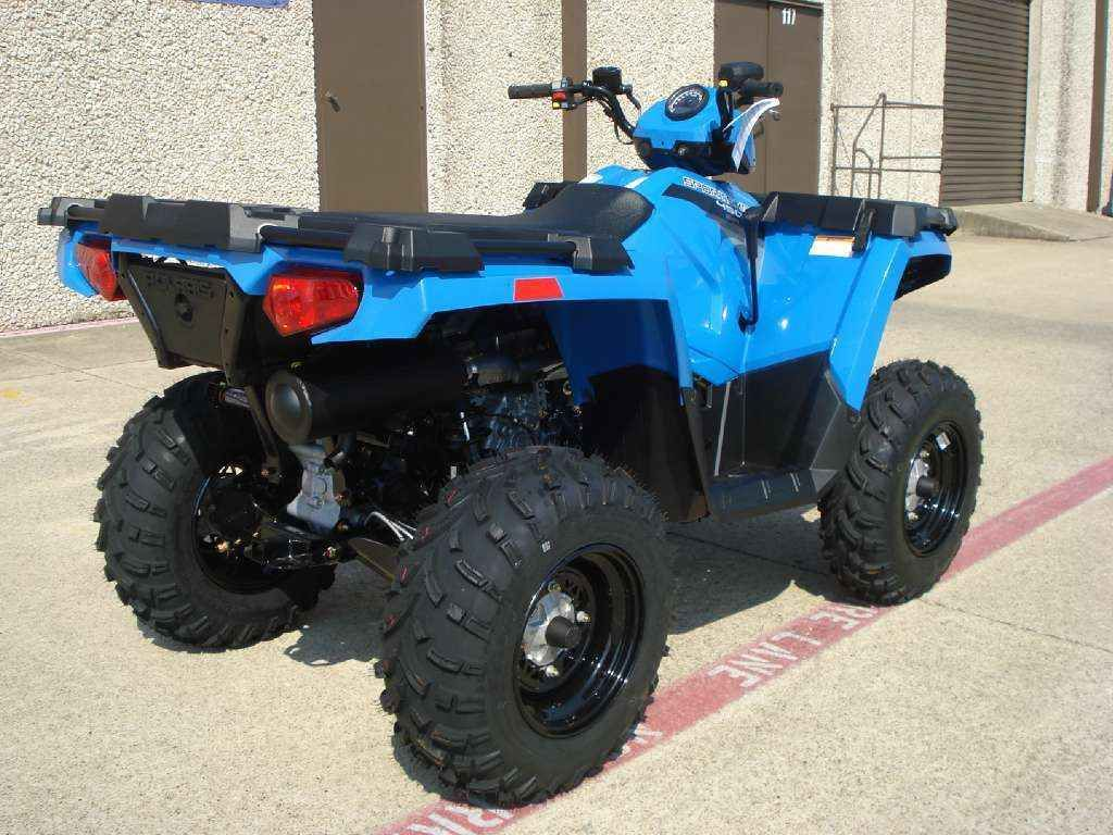 New 2016 Polaris Sportsman 450 H O Velocity Blue Atvs For In Texas