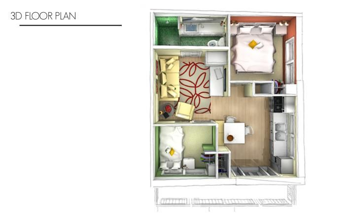 400 sq ft house by courtney boardman at for 400 square foot house