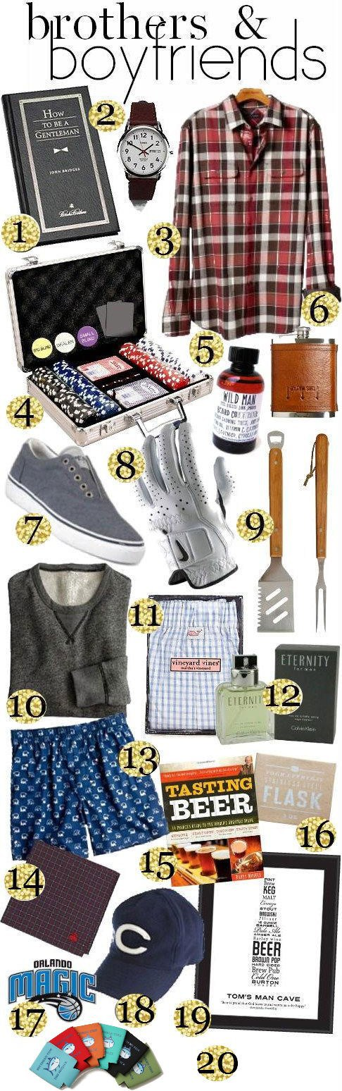 Gift Guide Brothers & Boyfriends. Gifts for brother