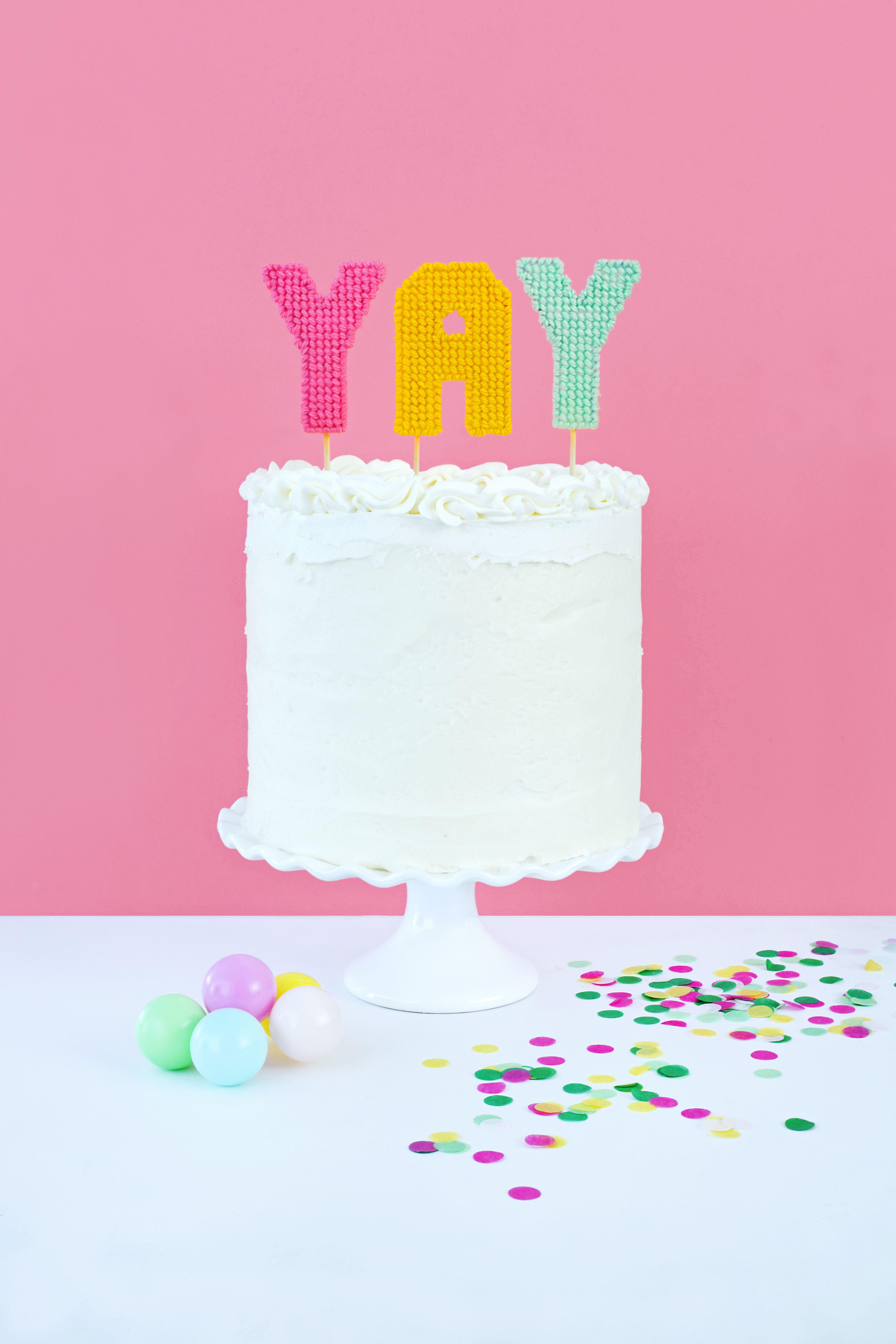 Birthday candle cake diy diy cake topper birthday cake