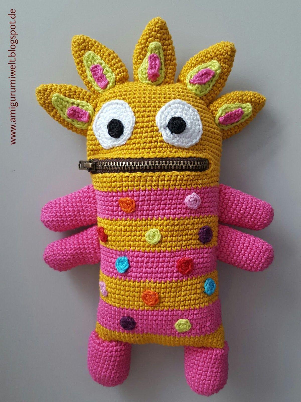 Amigurumi, häkeln, crochet, kostenlos, free, monster | Ideen ...
