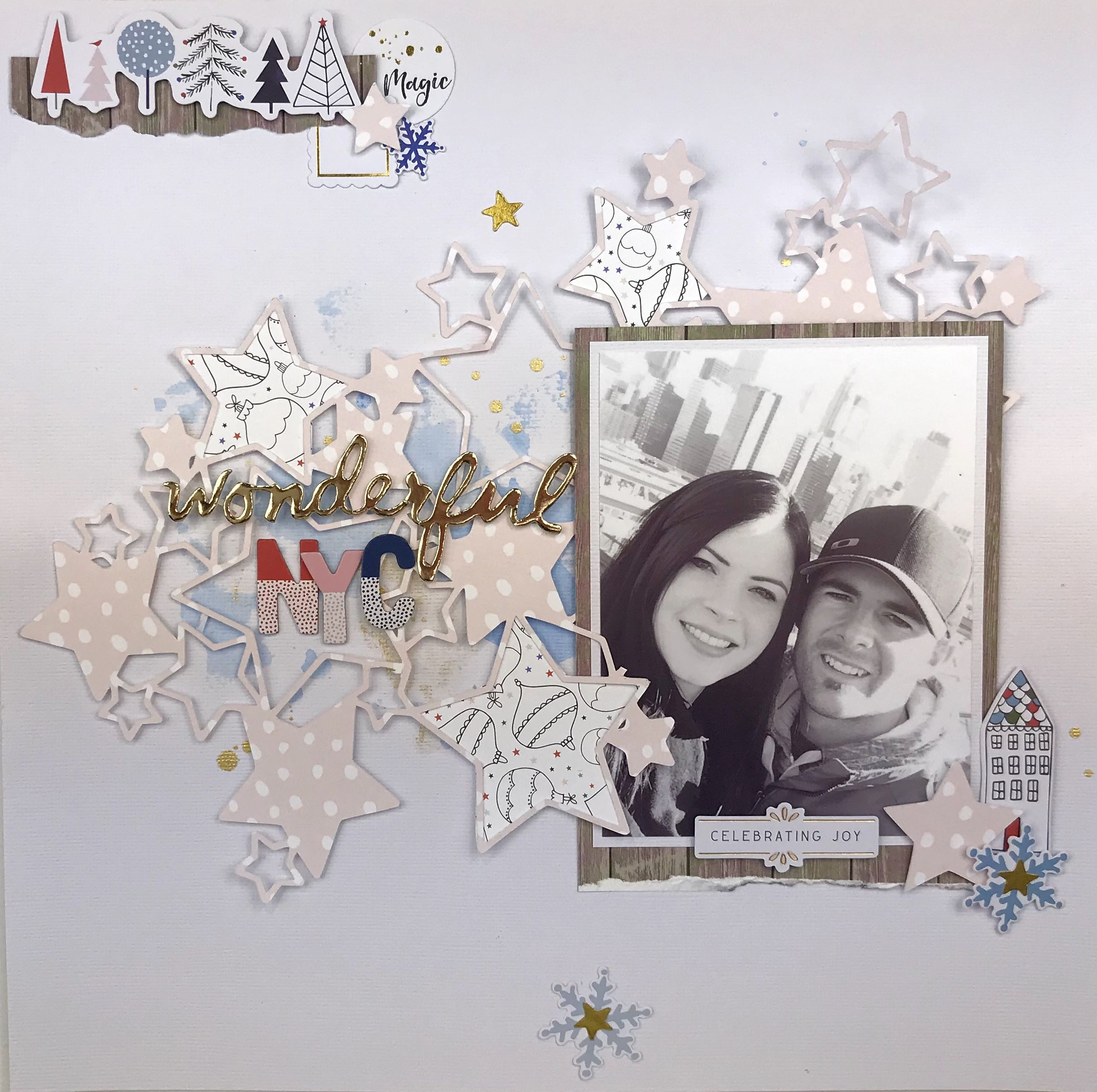 Scrapbook Layout by Mari Clarke