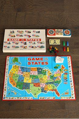 Vintage Game Of States Board Game #UrbanOutfitters #smallspace
