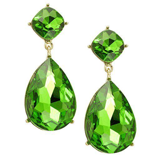 Sarotta Jewelry Fashion 1 Pear Cut Aquamarine Topaz Gold Tone Pendant Necklace
