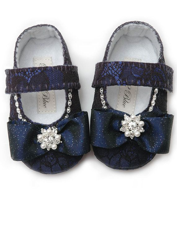 Navy blue shoes | Baby girl shoes