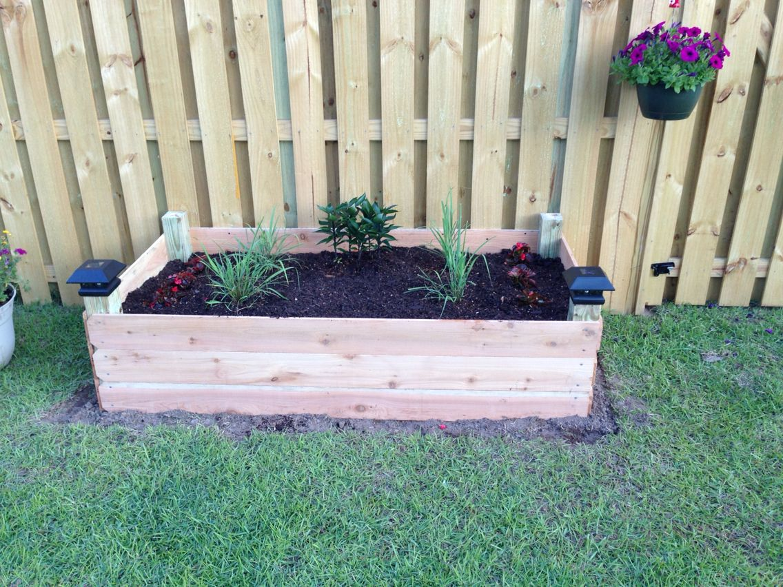 Raised Garden Bed From 4x4 Post Cedar Fence Pickets Water