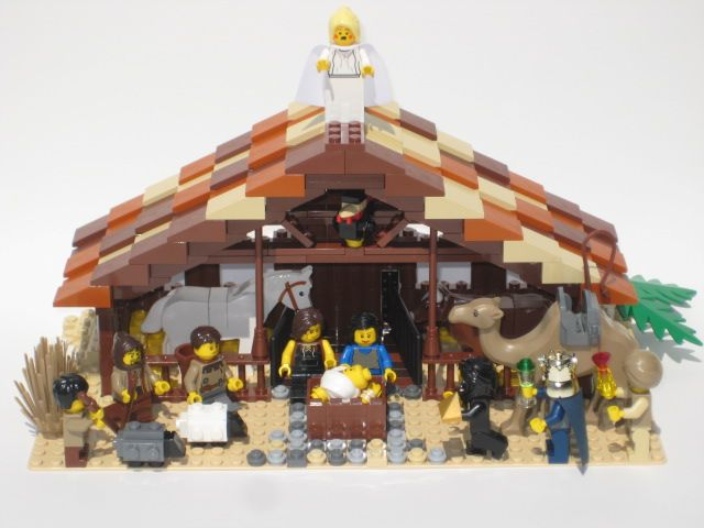 Lego Nativity Idea Could Just Use Whatver We Have To Make It