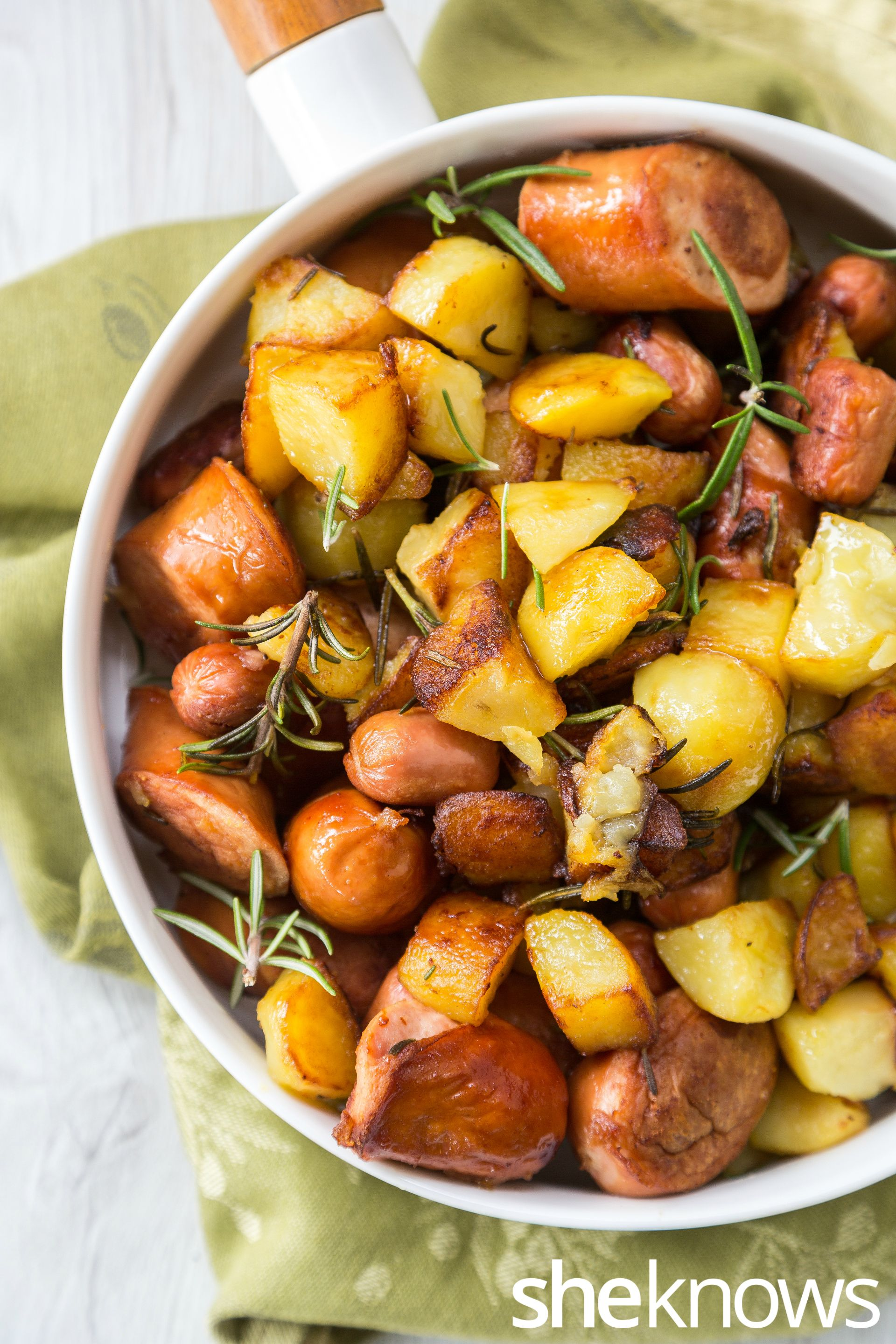 Crisp potatoes, hearty sausage and a hint of rosemary put this easy breakfast skillet over the top