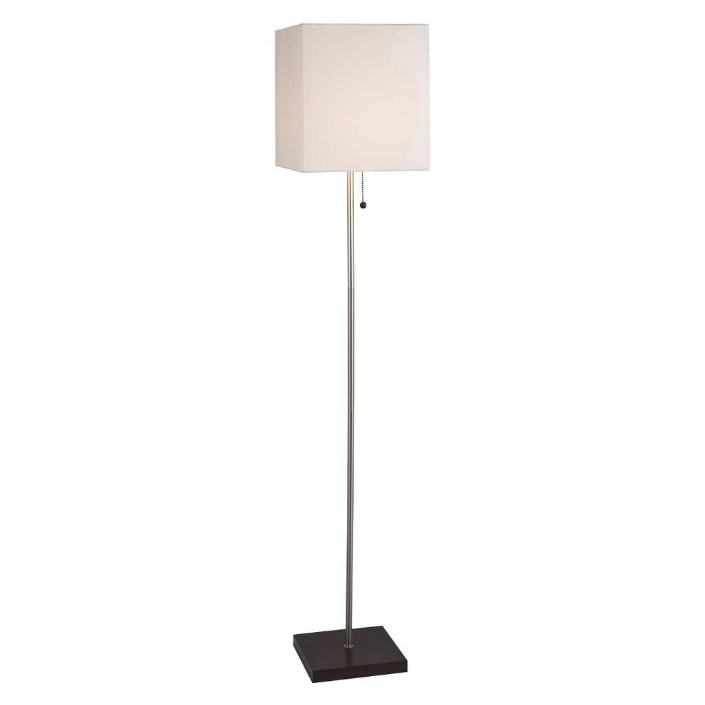 Square Stick Floor Lamp Silver Includes Led Light Bulb Threshold White Floor Lamp Silver Floor Lamp Floor Lamp