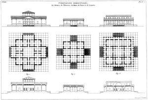 """Jean-Nicolas-Louis Durand's book of architectural elements, """"Précis des Leçons d'Architecture."""""""