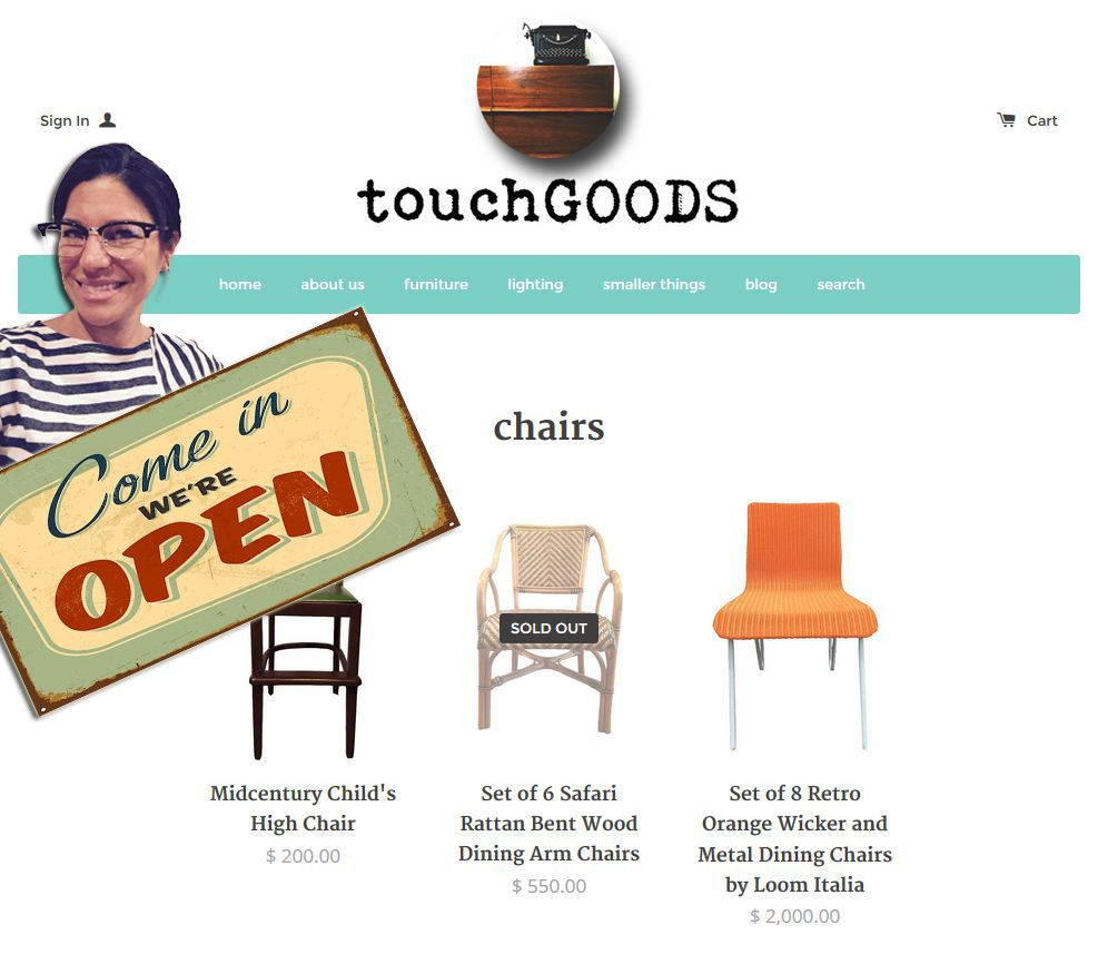 open for business! www.touchgoods.com