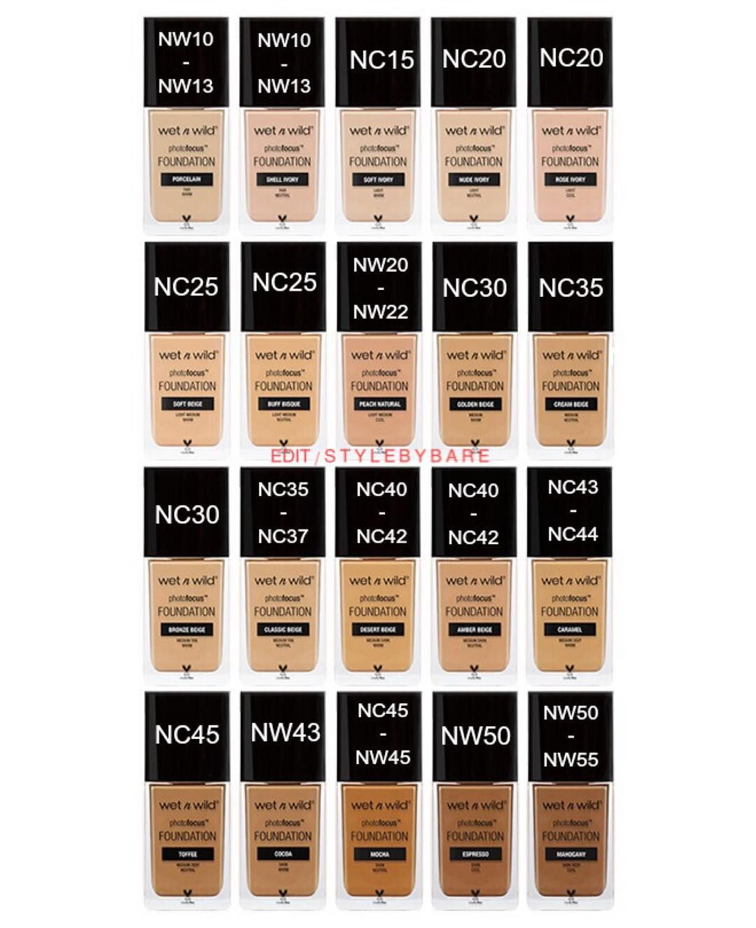 Nyx Stay Matte But Not Flat Powder Foundation Shade Finder Maccosmetics To Wetnwildbeauty Photofocus Foundation Shade Chart Inspired By Arzanblogs I Tweek Foundation Shades Makeup Tips Foundation Skin Tone Makeup