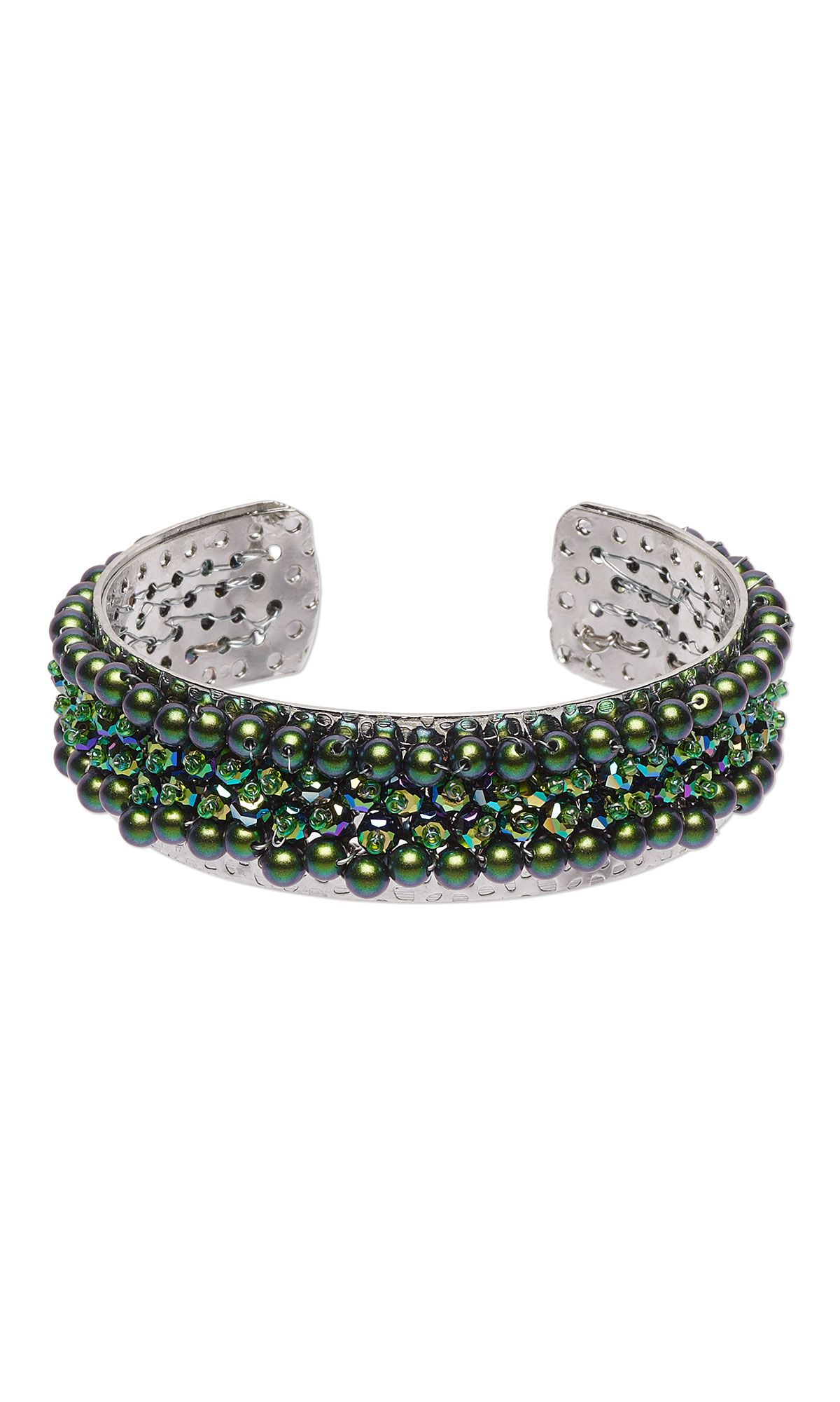 Perforated Cuff Bracelet Frame to wire wrap, bead and embellish to ...