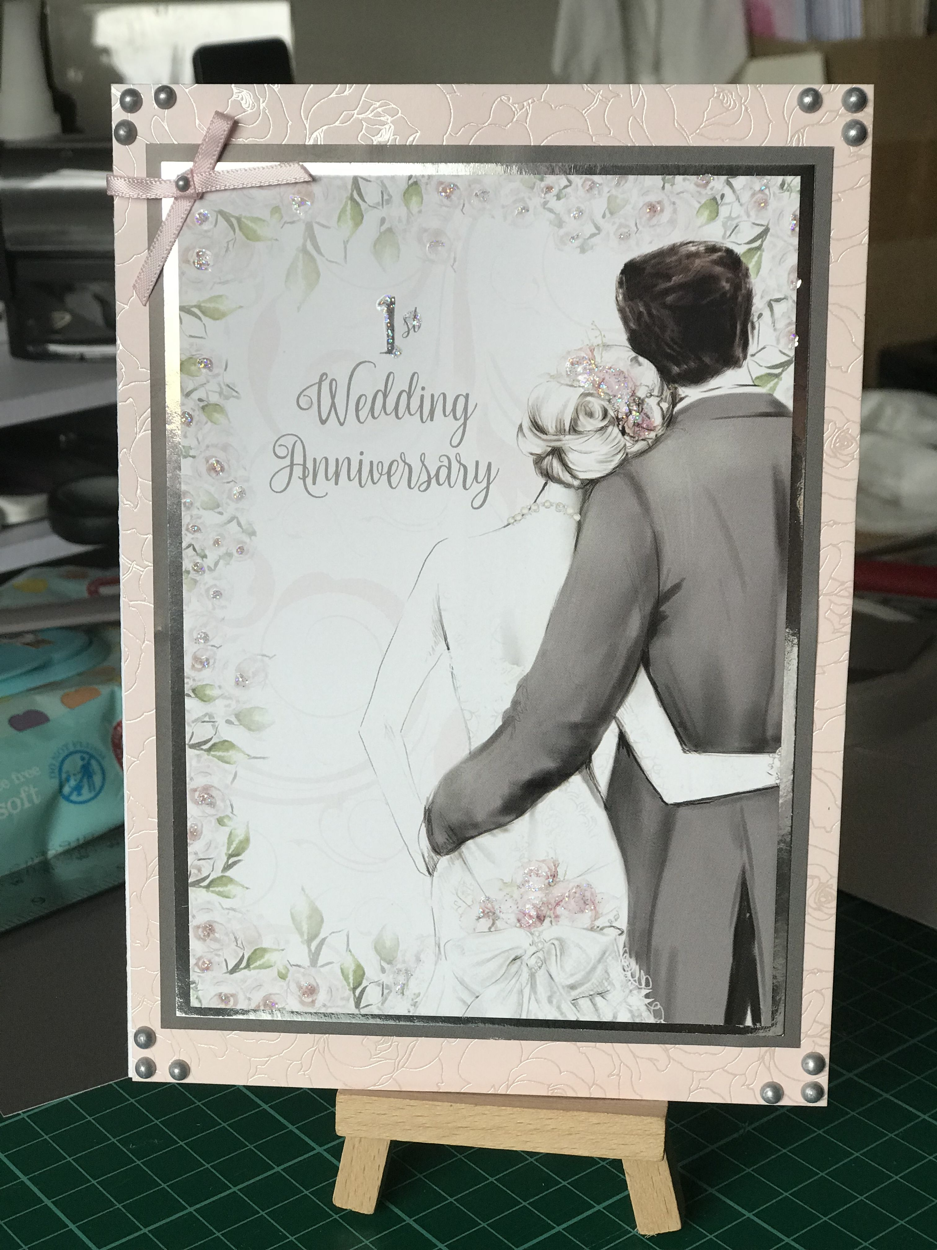 Made using Hunkydory Anniversaries little book 1st