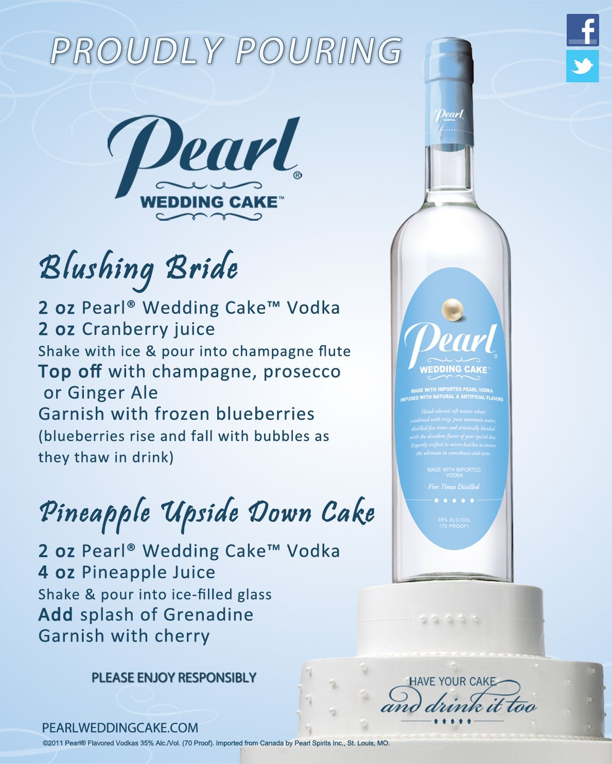 pearl wedding cake vodka nutrition facts these recipes for the bridal for more 18177