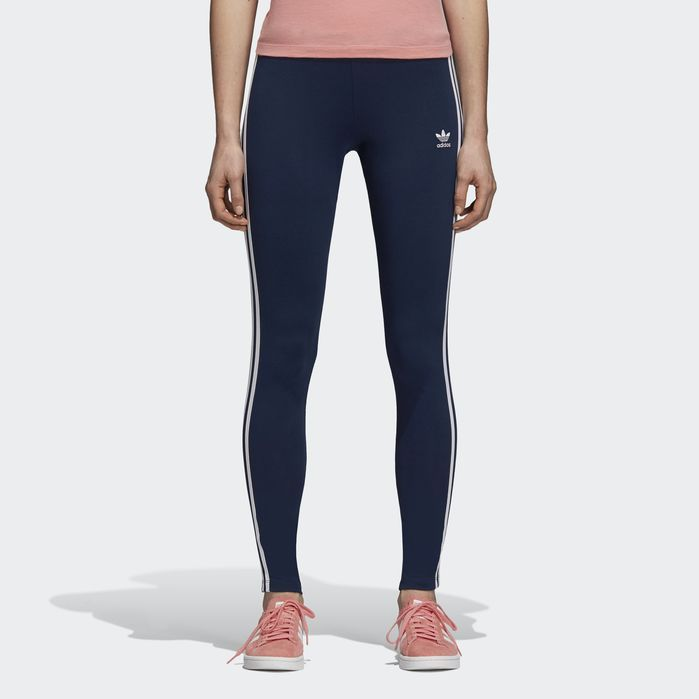 d7c89dd5a1 3-Stripes Leggings Navy Blue XS Womens | Products | Striped tights ...