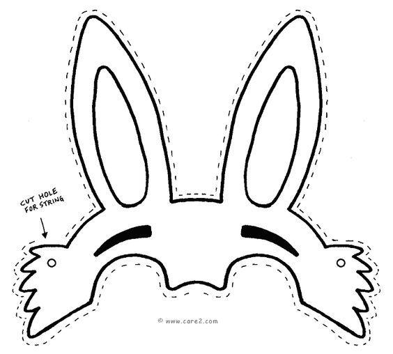 Easter bunny mask template:   wiosna - wielkanoc   Pinterest   Mask ...