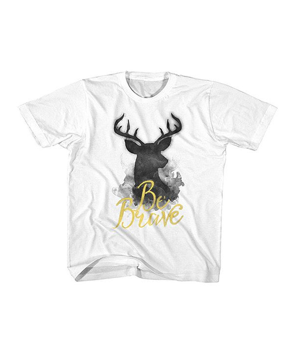 Look at this American Classics White 'Be Brave' Tee - Toddler & Kids on #zulily today!
