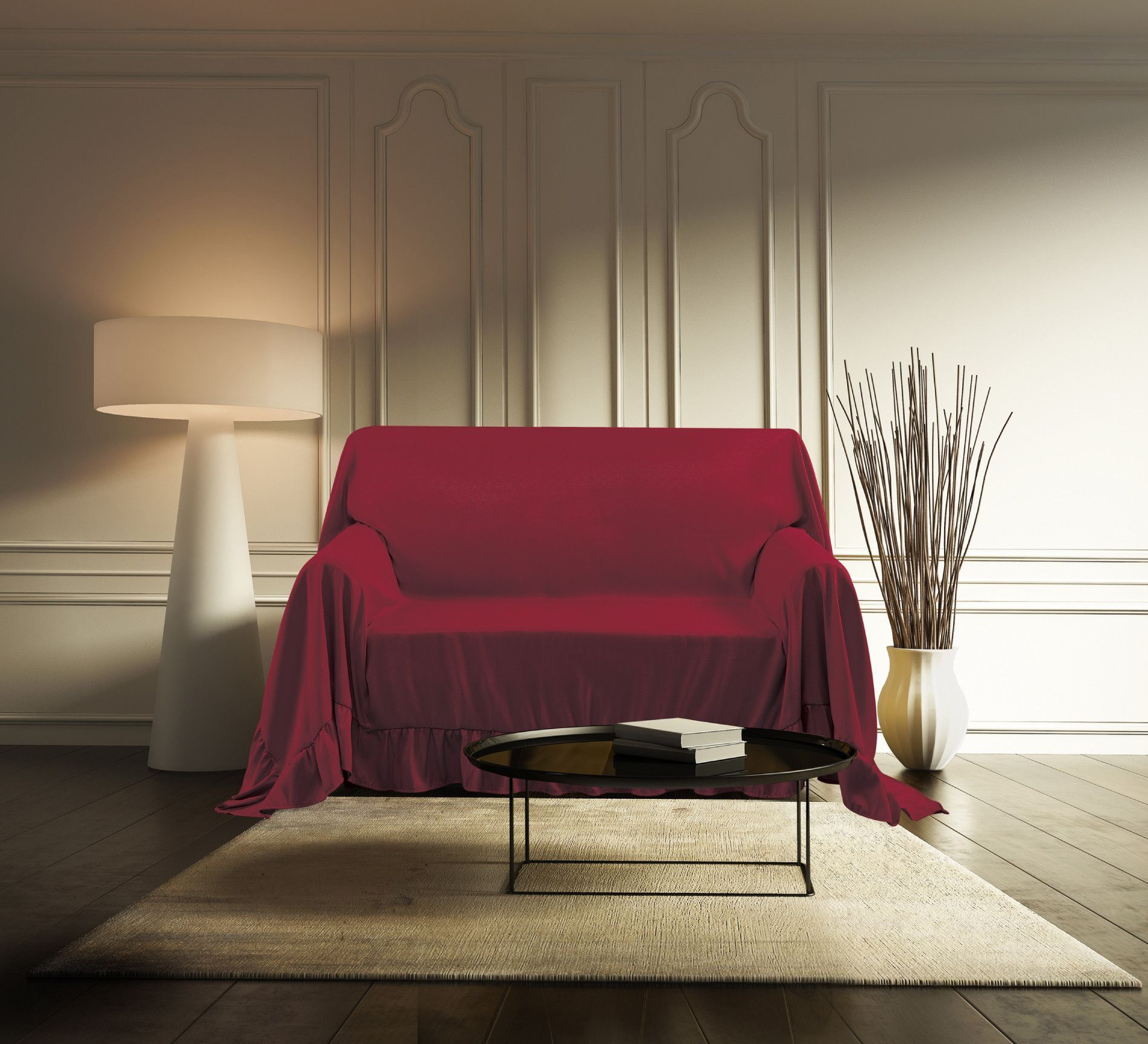 Venice Sofa Protector Throw Cover 70 X 140 Ruby | Products