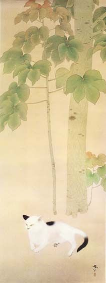 cat under an Odong tree | by Shunso Hishida