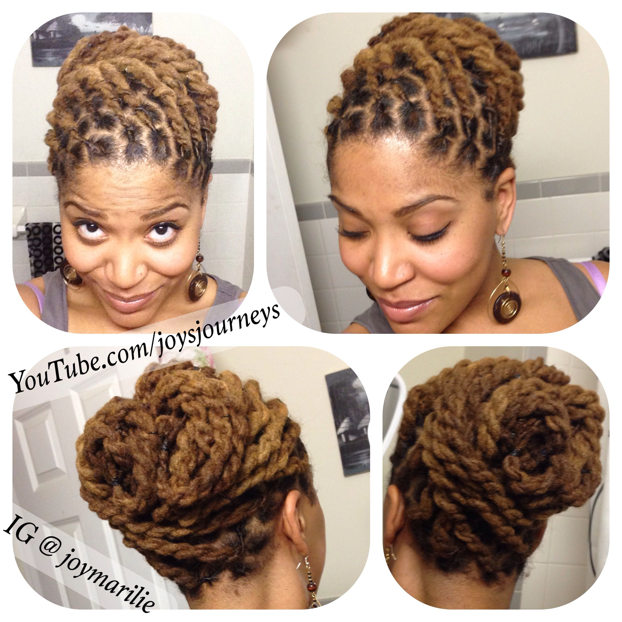 two strand twist loc pin-up. just a few changes from the