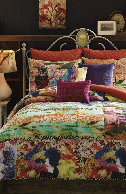 das Schlafzimmer durch die Bettwäsche erfrischen Romantiches