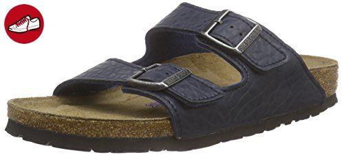 BIRKENSTOCK Professional Arizona Leder Softfootbed, Unisex-Erwachsene Pantoletten, Blau (Blue), 38 EU