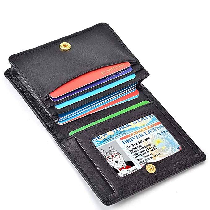 Women S Card Case Wallet Credit Card Holder Name Card Case Front Pocket Wallet For Ladies Card Case Wallet Leather Clutch Wallet Front Pocket Wallet